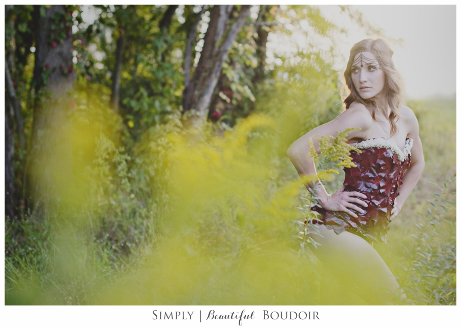 Simply Beautiful Boudoir_Floral Designs by Jessi_Corset Shoot 2