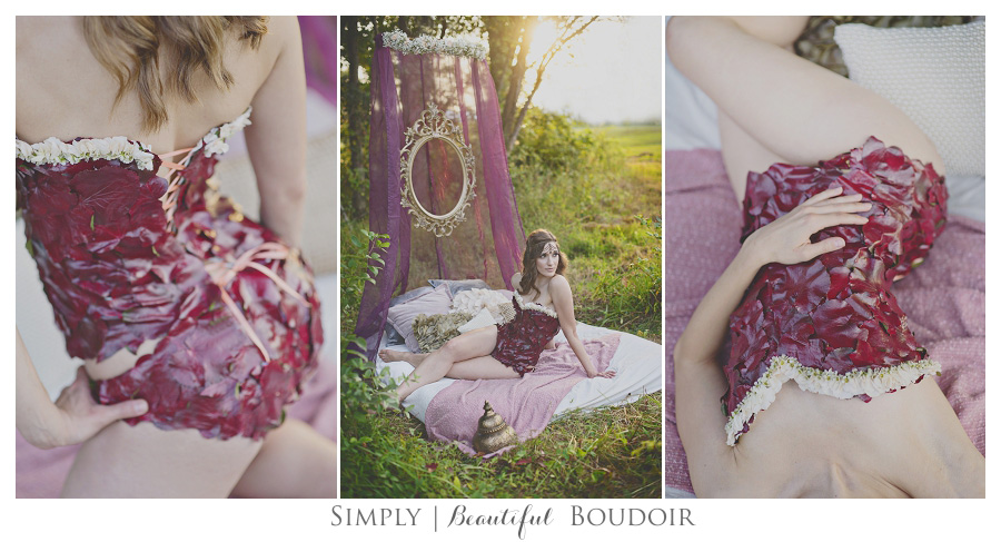 Simply Beautiful Boudoir_Floral Designs by Jessi_Corset Shoot