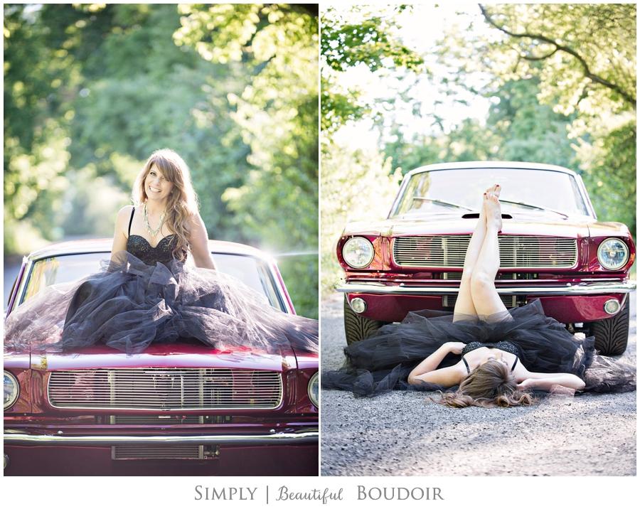 Boudoir Car Shoot_Vintage Mustang_Tulle Skirt 1